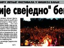 """U okviru letnjeg festivala u Niškoj Banji nastupa """"Nije svejedno"""" bend"""