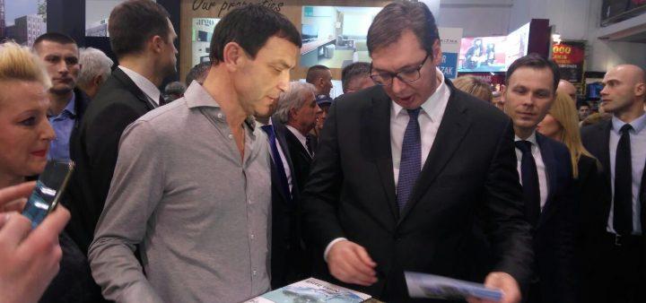 Premijer Aleksandar Vučić posetio štand Niške Banje na Sajmu turizma u Beogradu