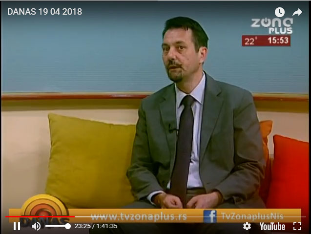 TV ZONA PLUS – DANAS 19.04.2018.