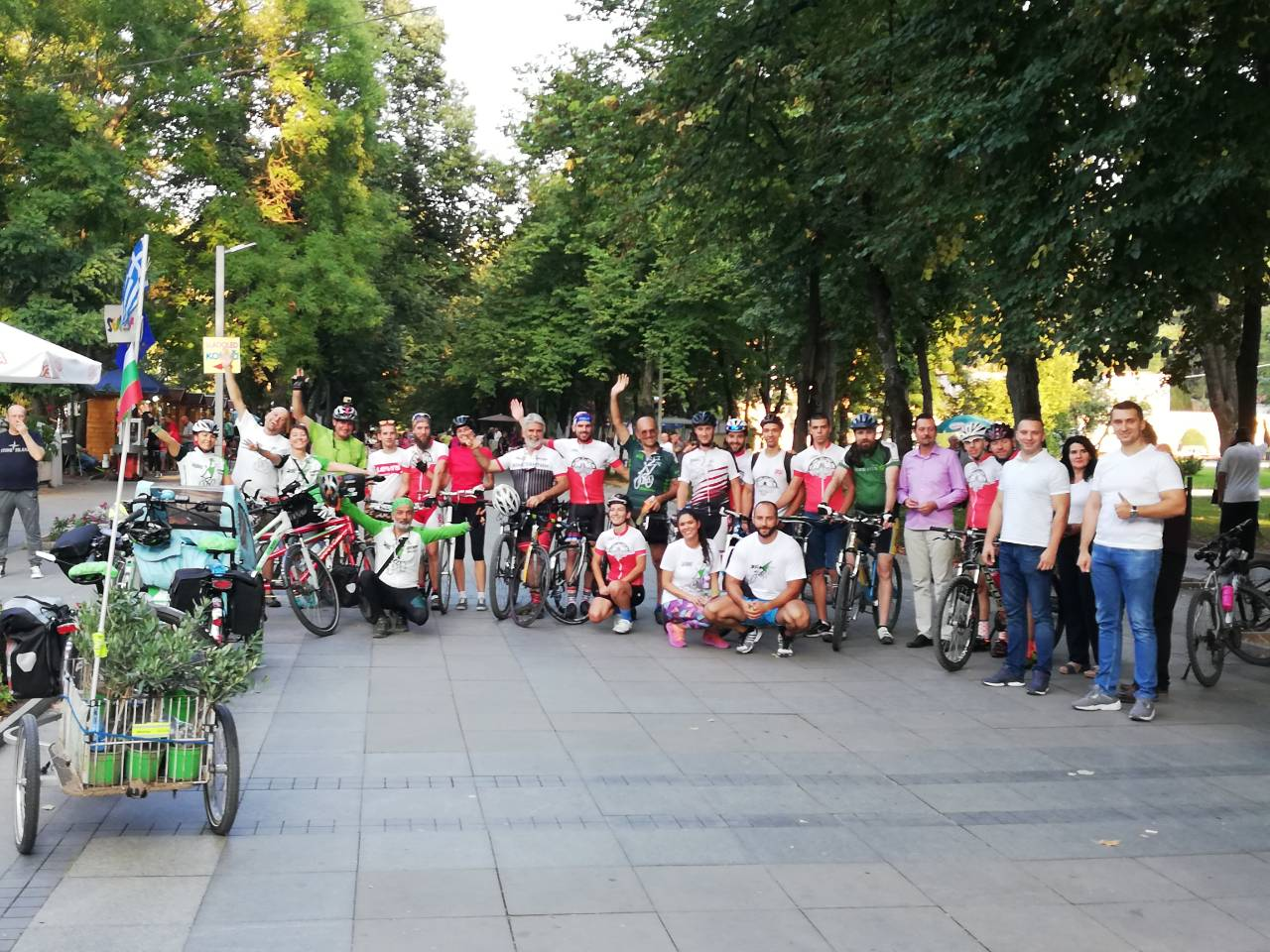 "Biciklistički karavan ""Bike for Europe"" u Niškoj Banji"