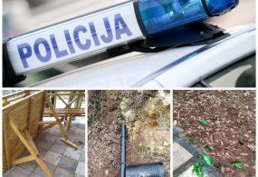 Identifikovani vandali koji su polomili sto, kante i ploče na stazama zdravlja
