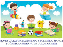 Konkurs za izbor učenika generacije, najboljeg studenta i sportiste u 2020. godini
