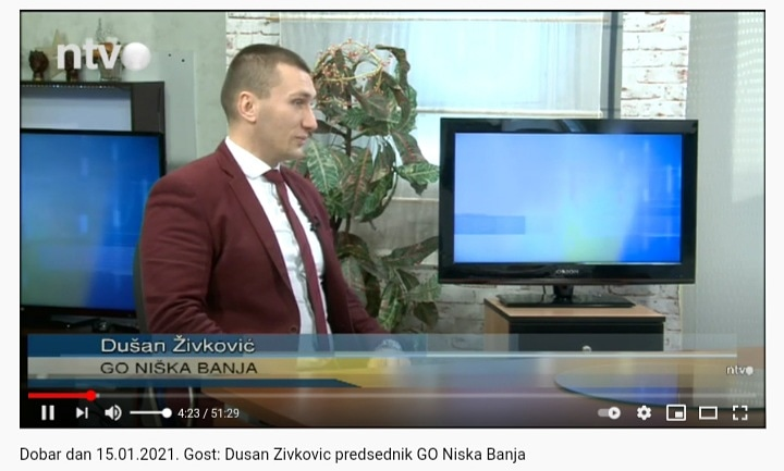 Dobar dan 15.01.2021. –  Gost: Dušan Živković predsednik GO Niška Banja
