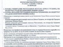 OGLAS o izlaganju plana generalne regulacije naselja Donja Studena i Čukljenik na rani javni uvid