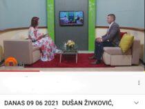 TV ZONA PLUS, DANAS – Gost: Dušan Živković, predsednik GO Niška Banja